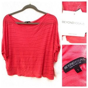 Beyond Yoga Tropical Berry Shirt NWT